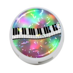 Piano Keys Music Colorful 3d 4 Port Usb Hub (one Side)