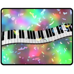 Piano Keys Music Colorful 3d Fleece Blanket (medium)