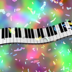Piano Keys Music Colorful 3d Magic Photo Cubes