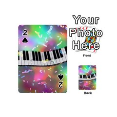 Piano Keys Music Colorful 3d Playing Cards 54 (mini)  by Nexatart