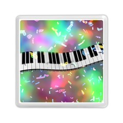 Piano Keys Music Colorful 3d Memory Card Reader (square)