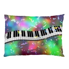 Piano Keys Music Colorful 3d Pillow Case (two Sides)