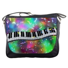 Piano Keys Music Colorful 3d Messenger Bags