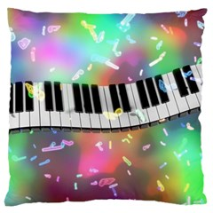 Piano Keys Music Colorful 3d Large Cushion Case (two Sides)
