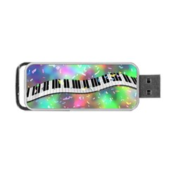 Piano Keys Music Colorful 3d Portable Usb Flash (two Sides)