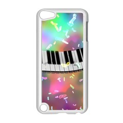 Piano Keys Music Colorful 3d Apple Ipod Touch 5 Case (white)