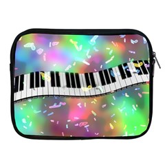 Piano Keys Music Colorful 3d Apple Ipad 2/3/4 Zipper Cases