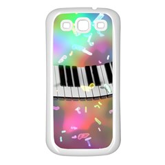 Piano Keys Music Colorful 3d Samsung Galaxy S3 Back Case (white)