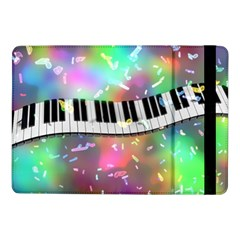 Piano Keys Music Colorful 3d Samsung Galaxy Tab Pro 10 1  Flip Case