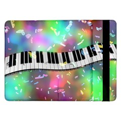 Piano Keys Music Colorful 3d Samsung Galaxy Tab Pro 12 2  Flip Case