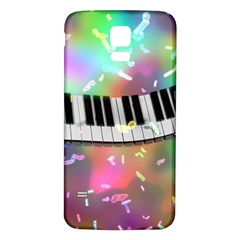 Piano Keys Music Colorful 3d Samsung Galaxy S5 Back Case (white)