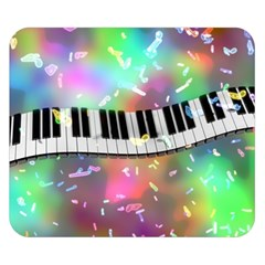 Piano Keys Music Colorful 3d Double Sided Flano Blanket (small)