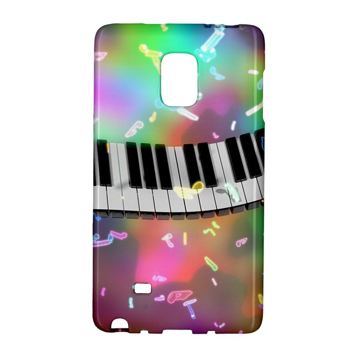Piano Keys Music Colorful 3d Galaxy Note Edge