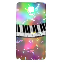 Piano Keys Music Colorful 3d Galaxy Note 4 Back Case