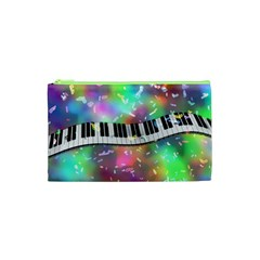 Piano Keys Music Colorful 3d Cosmetic Bag (xs)