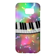Piano Keys Music Colorful 3d Samsung Galaxy S7 Edge Hardshell Case