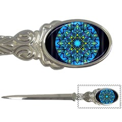 Mandala Blue Abstract Circle Letter Openers