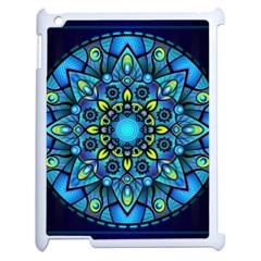 Mandala Blue Abstract Circle Apple Ipad 2 Case (white)