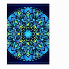 Mandala Blue Abstract Circle Large Garden Flag (two Sides)