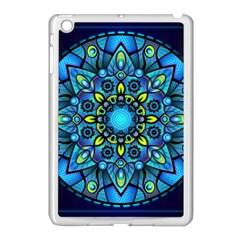 Mandala Blue Abstract Circle Apple Ipad Mini Case (white)