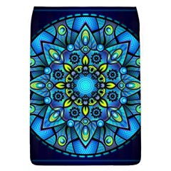 Mandala Blue Abstract Circle Flap Covers (l)