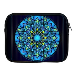 Mandala Blue Abstract Circle Apple Ipad 2/3/4 Zipper Cases