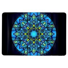 Mandala Blue Abstract Circle Ipad Air Flip