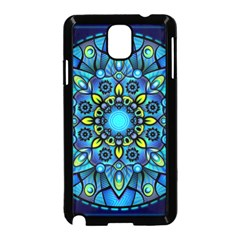 Mandala Blue Abstract Circle Samsung Galaxy Note 3 Neo Hardshell Case (black)