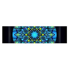 Mandala Blue Abstract Circle Satin Scarf (oblong)