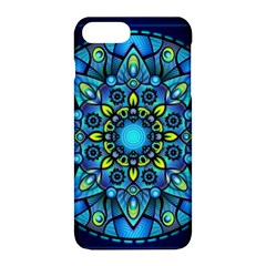 Mandala Blue Abstract Circle Apple Iphone 8 Plus Hardshell Case by Nexatart