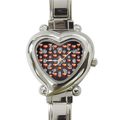 Love Heart Background Heart Italian Charm Watch