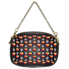 Love Heart Background Chain Purses (one Side)