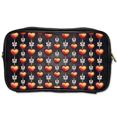 Love Heart Background Toiletries Bags