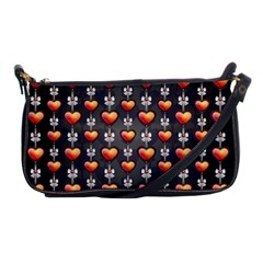 Love Heart Background Shoulder Clutch Bags