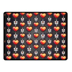 Love Heart Background Fleece Blanket (small)