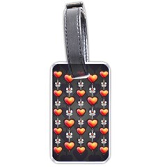 Love Heart Background Luggage Tags (two Sides) by Nexatart