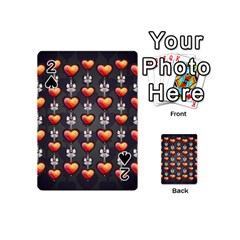 Love Heart Background Playing Cards 54 (mini)