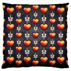 Love Heart Background Large Cushion Case (two Sides)
