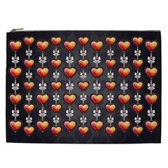 Love Heart Background Cosmetic Bag (xxl)