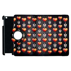 Love Heart Background Apple Ipad 2 Flip 360 Case