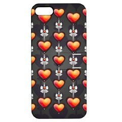 Love Heart Background Apple Iphone 5 Hardshell Case With Stand