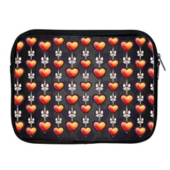 Love Heart Background Apple Ipad 2/3/4 Zipper Cases