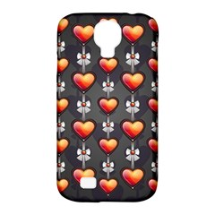 Love Heart Background Samsung Galaxy S4 Classic Hardshell Case (pc+silicone)