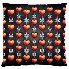 Love Heart Background Standard Flano Cushion Case (two Sides)