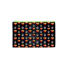 Love Heart Background Cosmetic Bag (xs)