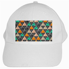 Abstract Geometric Triangle Shape White Cap