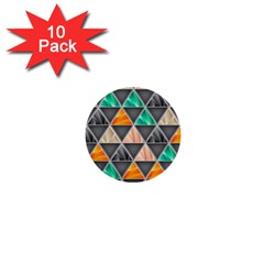 Abstract Geometric Triangle Shape 1  Mini Buttons (10 Pack)