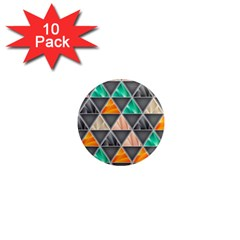 Abstract Geometric Triangle Shape 1  Mini Magnet (10 Pack)  by Nexatart