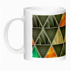 Abstract Geometric Triangle Shape Night Luminous Mugs