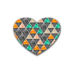 Abstract Geometric Triangle Shape Heart Coaster (4 Pack)  by Nexatart